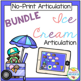 No Print Articulation Ice Cream BUNDLE (Distance Learning)