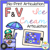 No Print Articulation F & V Ice Cream Activity (Distance L