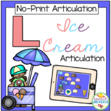 No Print Articulation L Ice Cream Activity (Distance Learning)