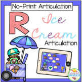 No Print Articulation R Ice Cream Activity (Distance Learning)
