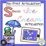 No Print Articulation S-Blends Ice Cream Activity (Distanc