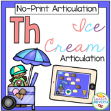 No Print Articulation TH Ice Cream Activity (Distance Learning)