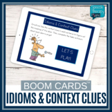 Idioms & Context Clues BOOM CARDS Set | Speech Therapy