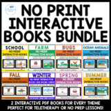 No Print Interactive Books for Speech Therapy and Special