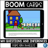 Boom Cards™Speech Therapy  WH Questions & Inferences   Dis