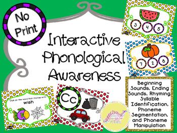 No Print Interactive Phonological Awareness