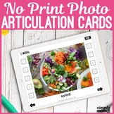 No Print Interactive Photo Cards for Speech Articulation on iPad or Teletherapy