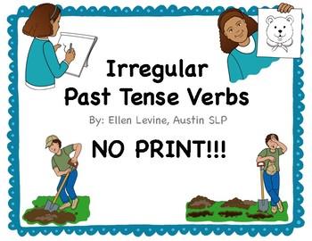 No Print Irregular Past Tense Verbs
