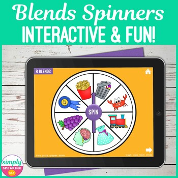No Print L S & R Blends Digital Articulation Spinners for iPad or Teletherapy