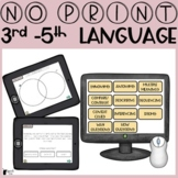 No Print Language 3rd to 5th   Upper Elementary Speech Therapy
