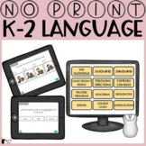 No Print Language K-2nd   Distance Learning Speech Therapy