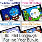 No Print Language - Year Long Bundle | speech therapy | di