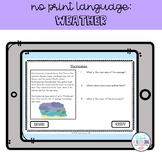 No Print Language: Weather (Distance Learning, Teletherapy)