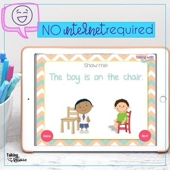 No Print Prepositions for Speech Therapy