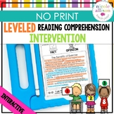 Leveled Intervention for Reading Comprehension (No Print)