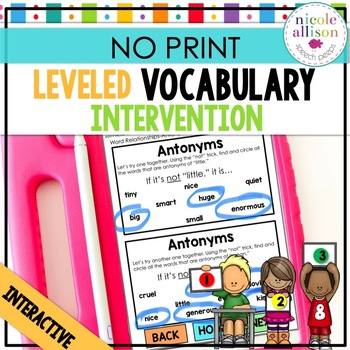 Leveled Intervention for Vocabulary (No Print)