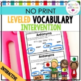 Distance Learning Leveled Intervention for Vocabulary (No Print)