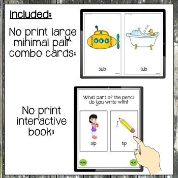 No Print Minimal Pairs Bundle for Speech Therapy