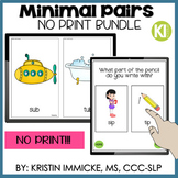 No Print Minimal Pairs Bundle for Distance Learning
