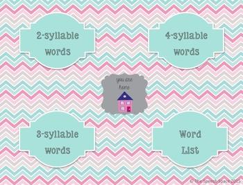 No Print Multisyllable Words