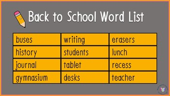 No Print/No Prep Back to School Guess-A-Word Widescreen Aspect