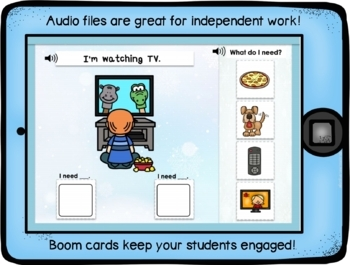 BOOM Cards No Print No Prep Winter Activities for Wants or Needs