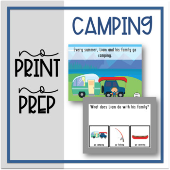 No Print, No Prep: Camping Reading Comprehension