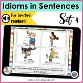 BOOM Cards | Cartoon Idioms 2 | No Print Picture Activities | Teletherapy