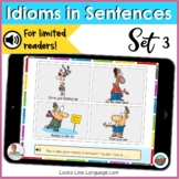 BOOM Cards | Cartoon Idioms 1 | No Print Picture Activities | Teletherapy