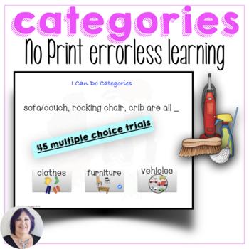 No Print No Prep Categories for Speech Language