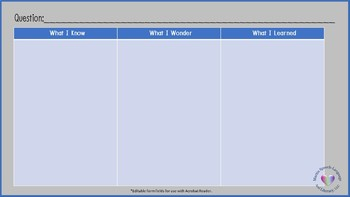 No Print/No Prep Editable KWL Charts Widescreen Aspect