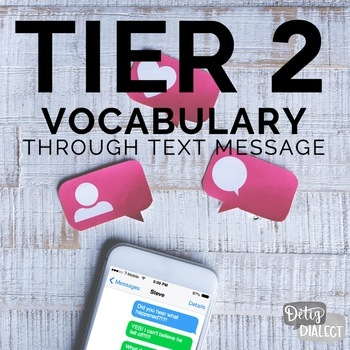 No print No prep Tier 2 Vocabulary Through Text Message #distancelearningtpt