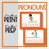 No Print, No Prep: Pronouns