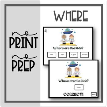 No Print No Prep: Where Questions