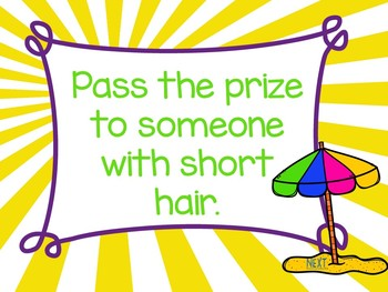 FREEBIE: No Print Pass the Prize: Summer Edition