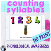 Counting Syllables No Print Activities Speech Therapy Inte