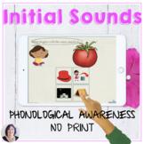 Initial Sounds Phonological Awareness Activity No Print Sp