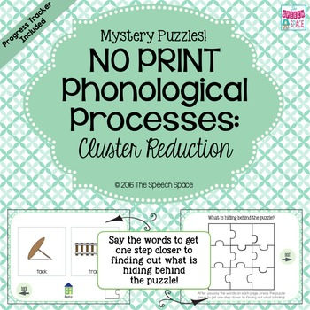 No Print Phonological Processes + Progress Tracker: Cluster Reduction