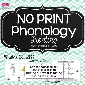 No Print Phonology: Fronting