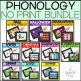 No Print Phonology GROWING Bundle for the Entire Year