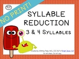 No Print Phonology - Syllable Reduction UPDATED