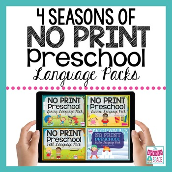 No Print Preschool Language Pack - 4 Seasons