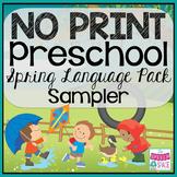 No Print Preschool Language Pack SAMPLER