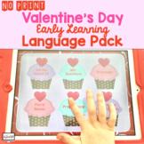 No Print Preschool Valentine's Day Language Pack