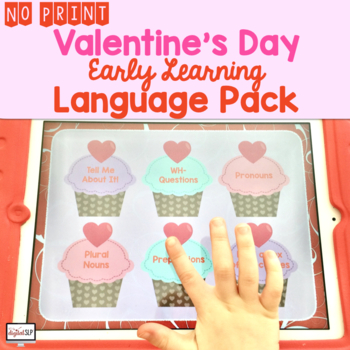 No Print Preschool Valentine's Day Language Pack