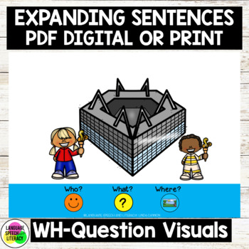 No Print Winter Games Expanding Sentences Using Visual Cues & WH Questions