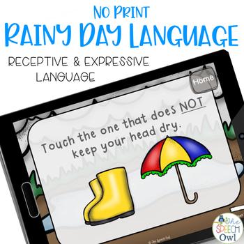No Print Rain Day Language