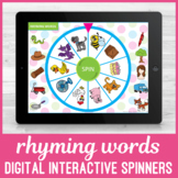 No Print Rhyming Word Spinners for Speech Language Therapists