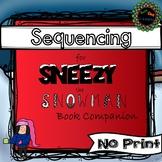 No Print Sneezy Snowman Book Companion for Sequencing (IPAD, smart board, etc)