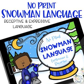 No Print Receptive & Expressive Language - Winter Edition